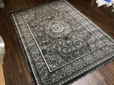 Modern Rugs Approx 11x8ft 240x340cm Woven Thick XXLARGE Top Quality Grey-Silver
